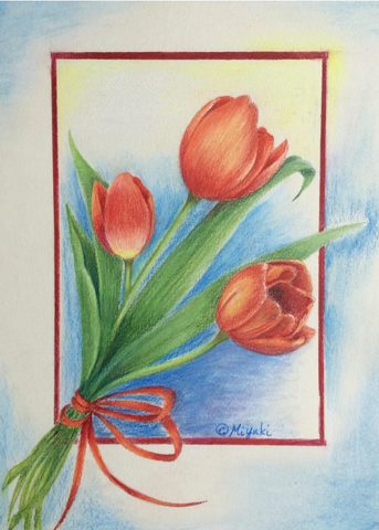 Spring Time by Miyuki Nakano Colored Pencils E-packet