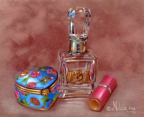 Vanity Set Colored Pencils Online Class by Nilda