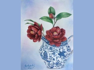 Winter's Delight Colored Pencils Online Class by Miyuki Nakano