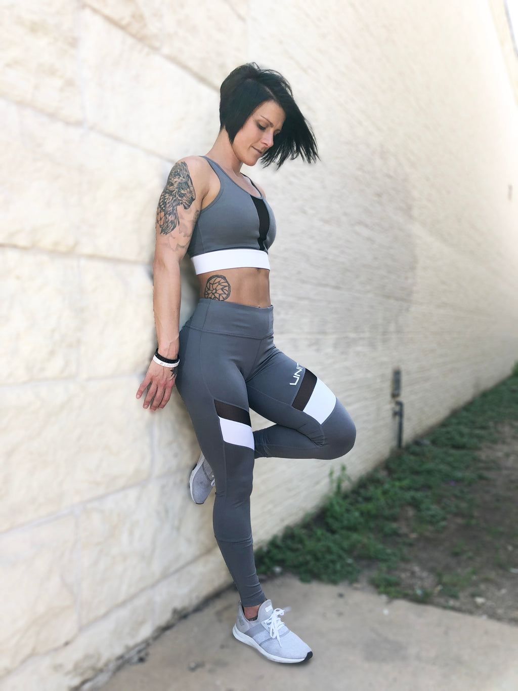 Color Block Leggings (Grey)