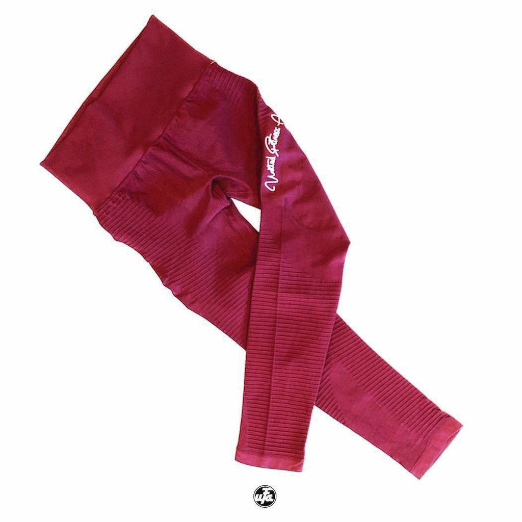 Performance Leggings (Burgundy)