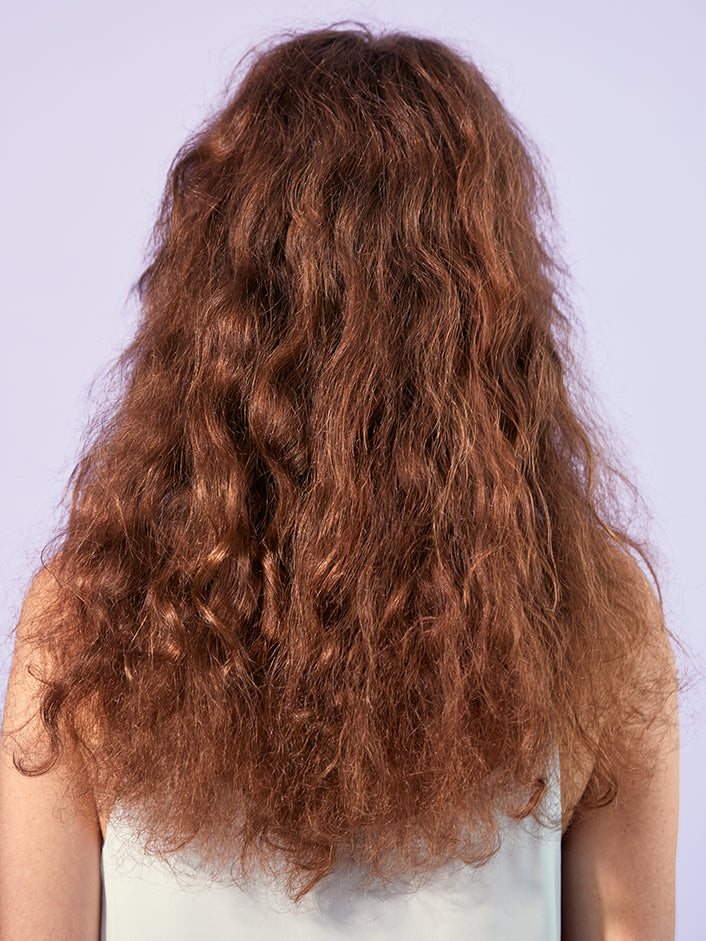Back profile look of hair before product use