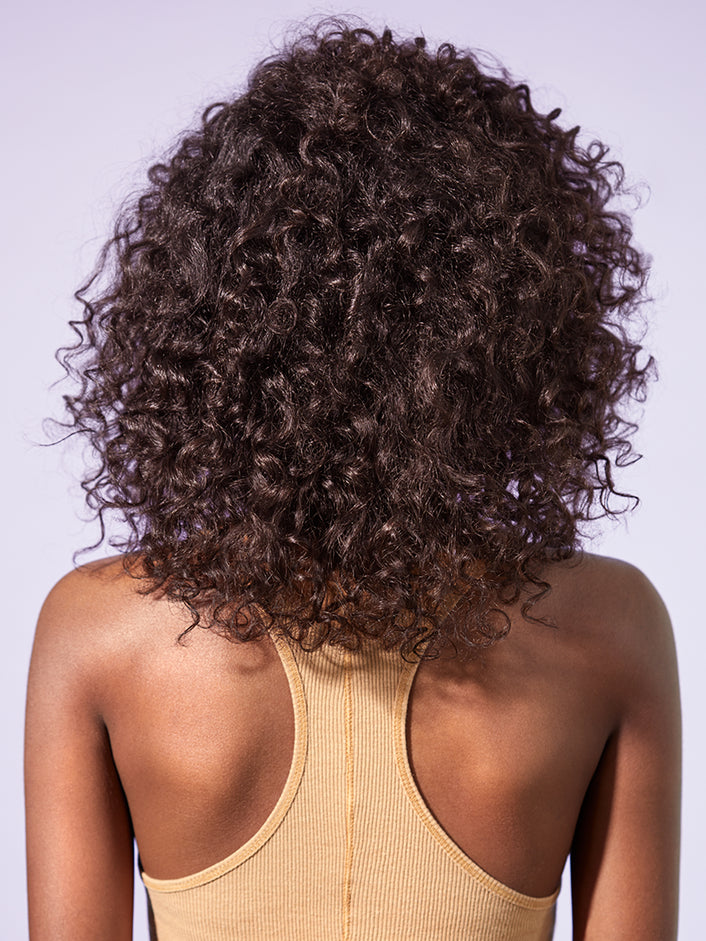 Back profile look of hair after product use