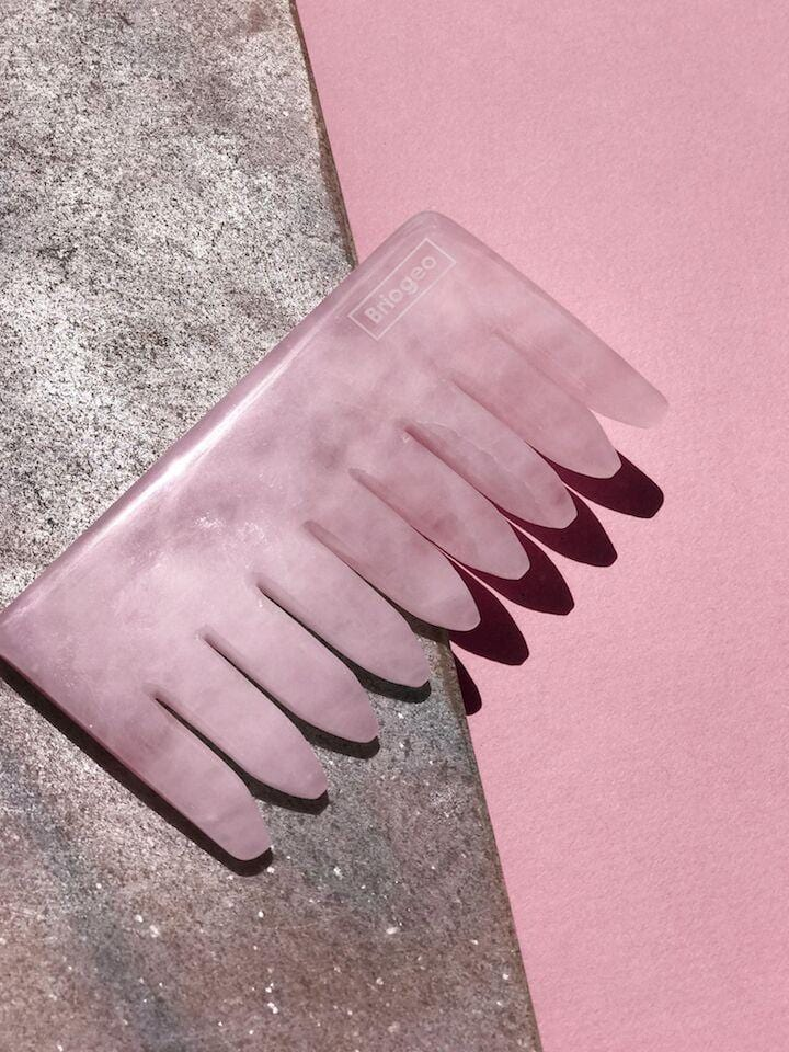 Rose Quartz Crystal Energy Comb