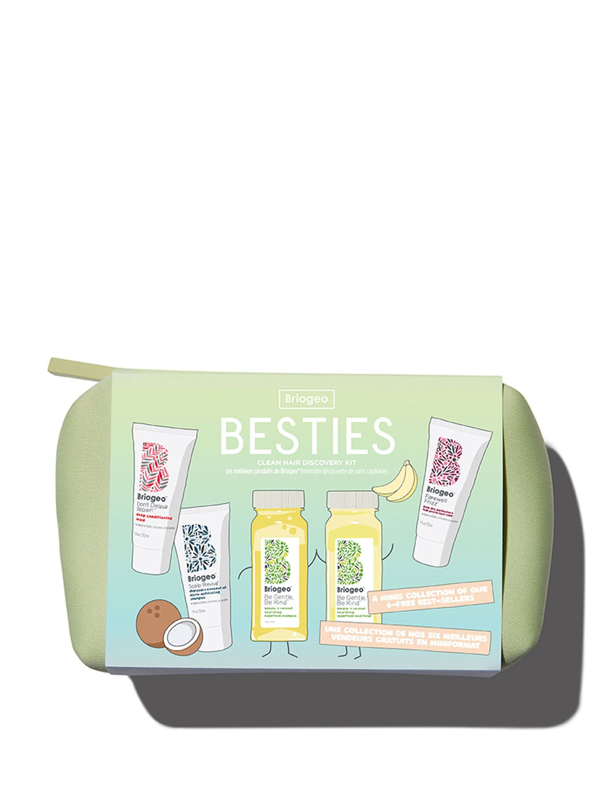 Besties Clean Hair Discovery Kit - Banana + Coconut Superfoods