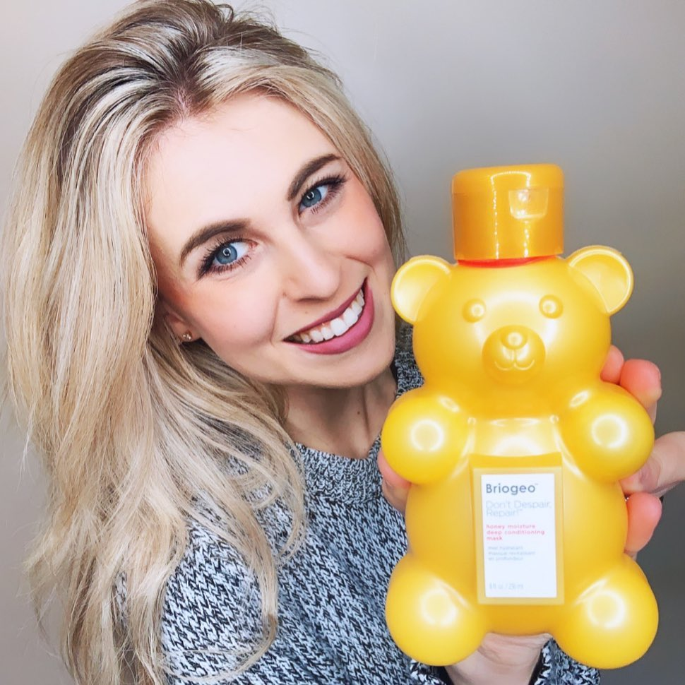 <p>Dry hair? Not a problem anymore! Having color treated hair and living in a dry state can be a challenge. Luckily Briogeo has created the perfect honey scented hair mask. Not only does it smell amazing, but it repairs my hair from being so dry and damaged.</p>