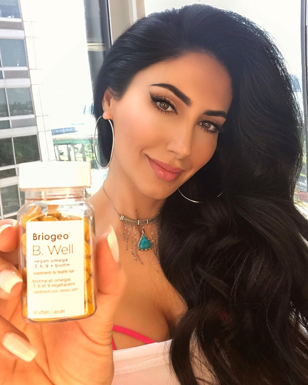 <p>I get tons of questions about how I keep my natural hair long, healthy, and shiny. I am a firm believer that great hair comes from within and the nutrients that support healthy hair. That's why I'm so excited about this #sponsor The B. Well Vegan Omega 3, 6, 9 + Biotin is a nutritionist-approved vegan-friendly hair supplement from Briogeo the Key Ingredients are: Algae Derived Omega-3 Complex, Ahiflower® Oil, Biotin.</p>