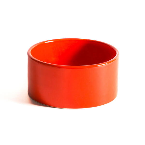 Dog Bowl Orange Ceramic Cool Hip Modern Beautiful Best Unique High Quality Made in USA Made in Brooklyn Mr. Dog New York