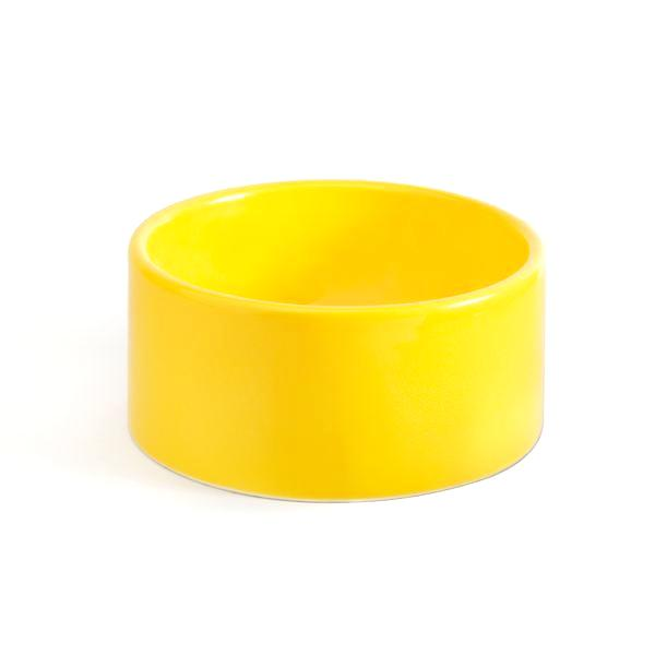 Dog Bowl Yellow Ceramic Cool Hip Modern Beautiful Best Unique High Quality Made in USA Made in Brooklyn Mr. Dog New York