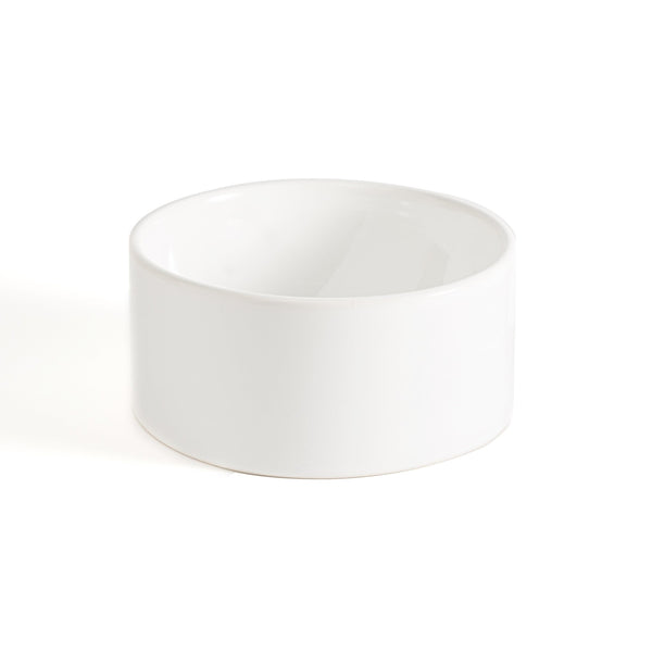 Dog Bowl White Ceramic Cool Hip Modern Beautiful Best Unique High Quality Made in USA Made in Brooklyn Mr. Dog New York
