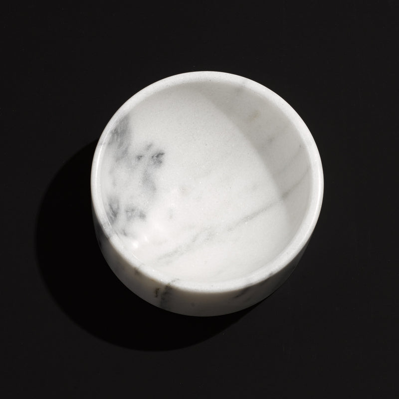 Dog Bowl Marble Unique Modern Cool Hip Luxury Sustainable Hand Crafted Best Made in USA Made in Brooklyn Mr. Dog New York