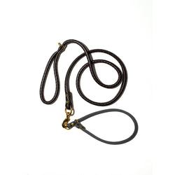 Leather Dog Leash for Slip-On Collar