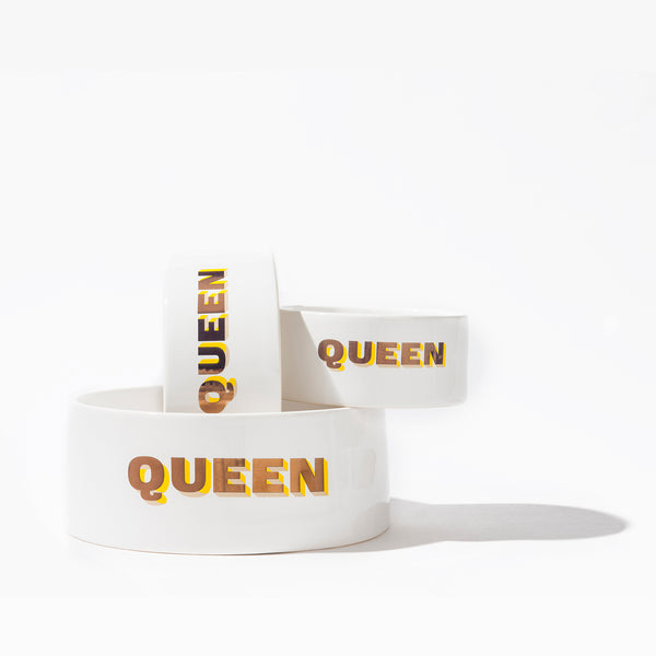 Queen Dog Bowl
