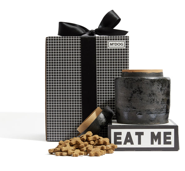 Stoneware Treat Jar Gift Set