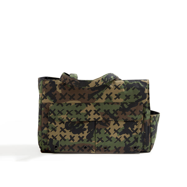 Dog Travel Tote Camo-X Black