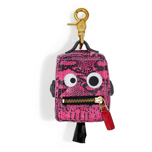 Limited Edition Roboto Dog Poop Bag Holder - Neon Pink