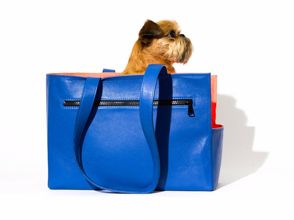 Leather Dog Travel Tote - Mr. Dog New York