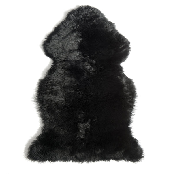 Sheepskin Throw Black