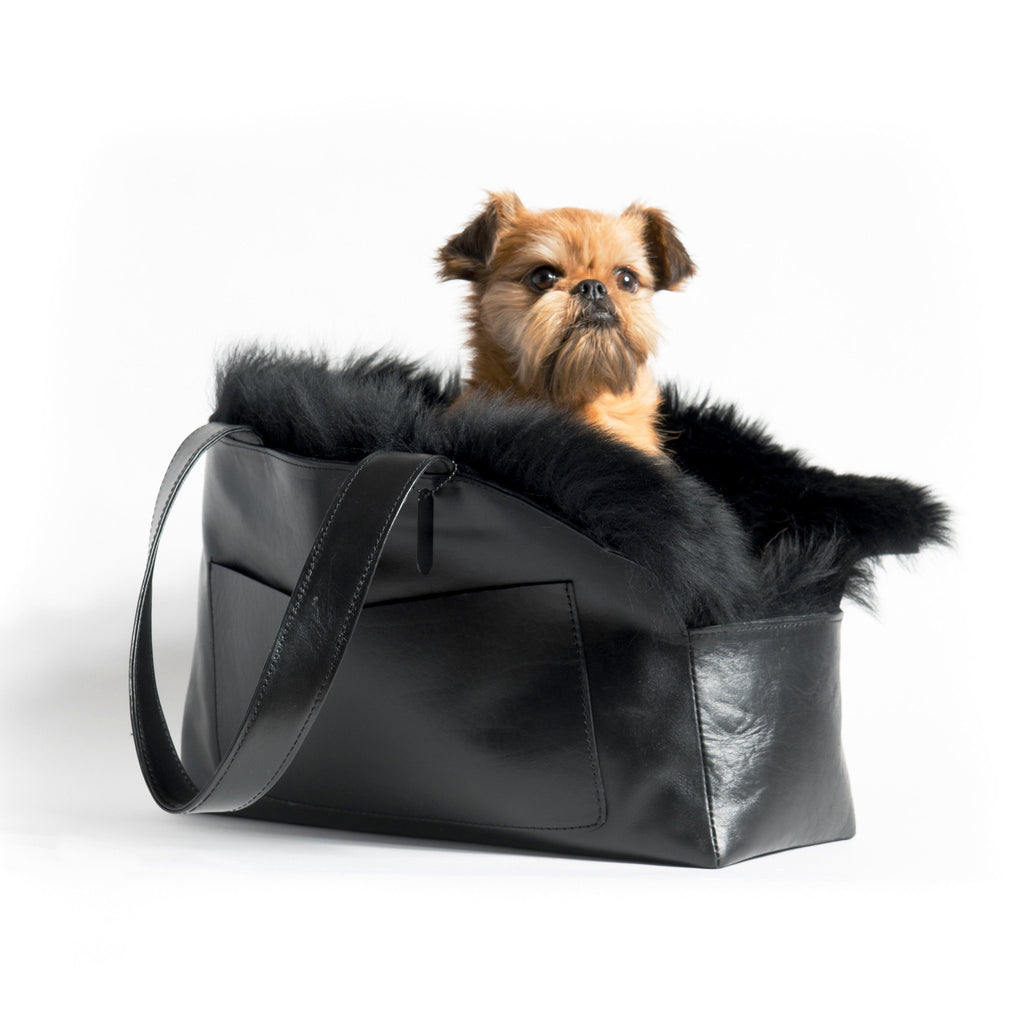 Mr Dog Sheepskin Travel Tote
