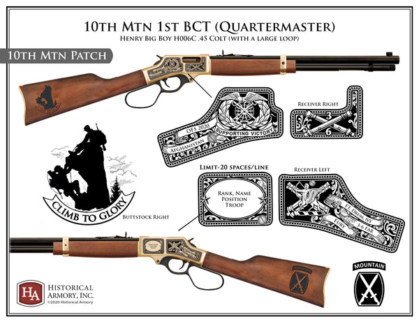 10th Mtn 1st BCT (Quartermaster, 10 Mtn Patch, Fury) .45 Colt