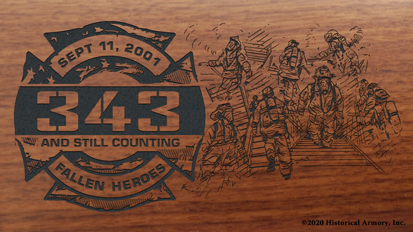 9/11 Firefighter Engraved Henry Rifle Buttstock