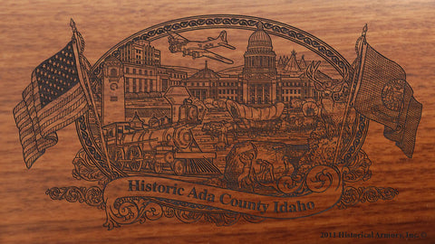 Ada county idaho engraved rifle buttstock