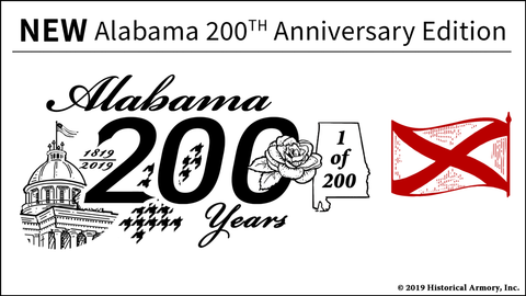 Alabama State 200th Anniversary Engraved Rifle