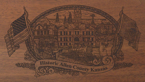 Allen county kansas engraved rifle buttstock
