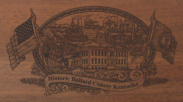 Ballard county kentucky engraved rifle buttstock