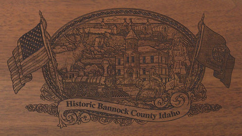 Bannock county idaho engraved rifle buttstock