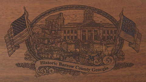 Barrow county georgia engraved rifle buttstock