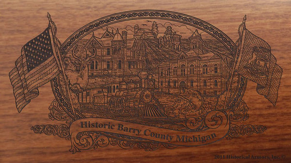 Barry county michigan engraved rifle buttstock