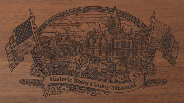 Bates county missouri engraved rifle buttstock