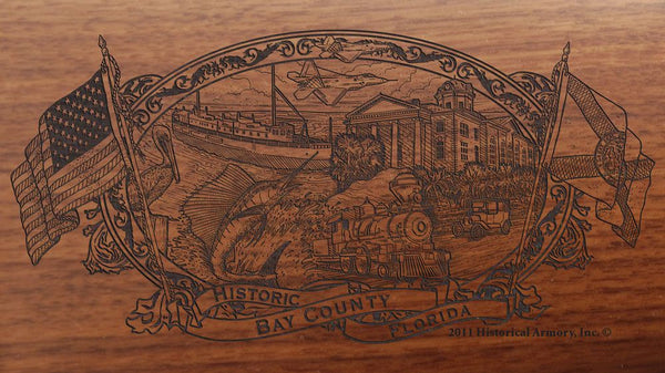 Bay county florida engraved rifle buttstock