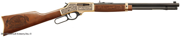 Big Horn county montana engraved rifle H009B