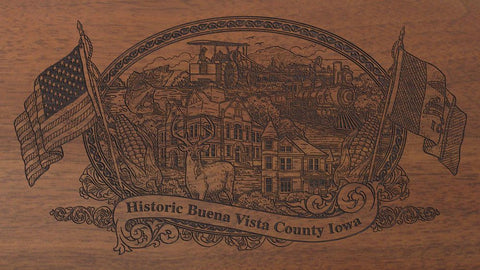 Buena Vista county iowa engraved rifle buttstock