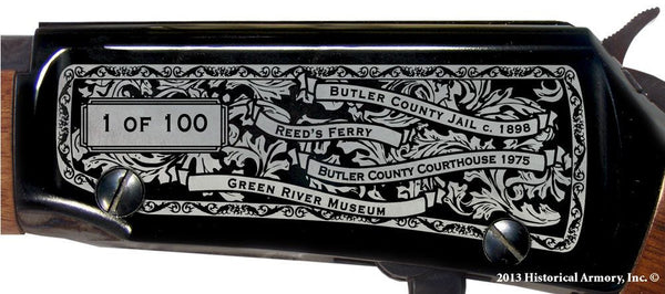 Butler county kentucky engraved rifle H001 Receiver