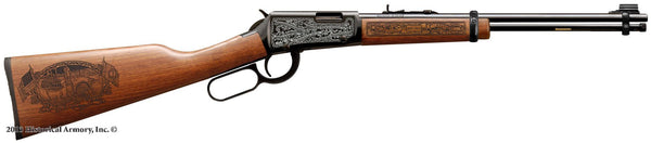 Butler county kentucky engraved rifle H001