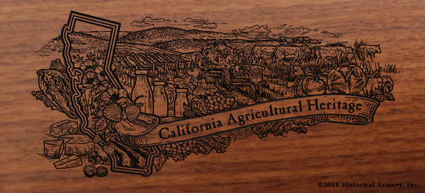 California State Agricultural Heritage Engraved Rifle