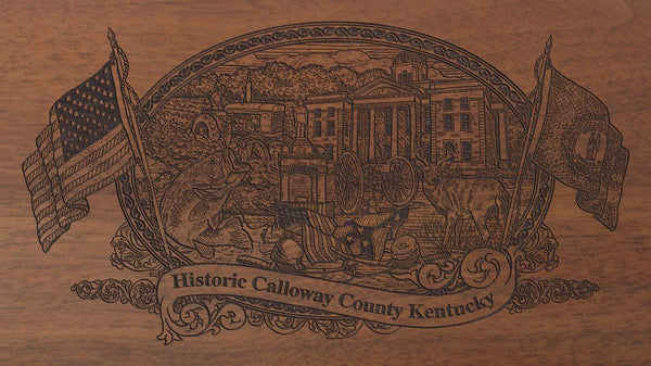 Calloway county kentucky engraved rifle buttstock