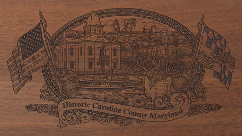 Caroline county maryland engraved rifle buttstock