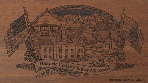 Cedar county missouri engraved rifle buttstock