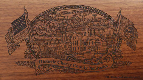 Cherry county nebraska engraved rifle buttstock
