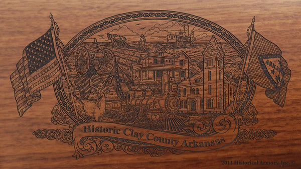 Clay-county-arkansas-engraved-rifle-Buttstock