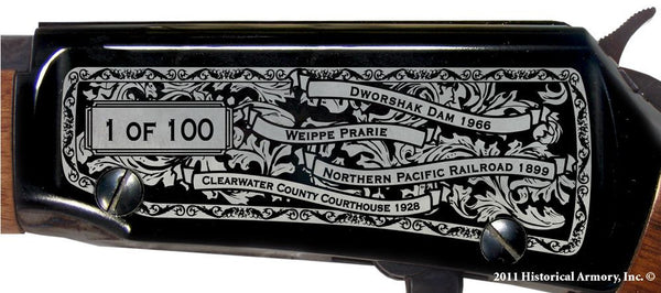 Clearwater county idaho engraved rifle H001 receiver