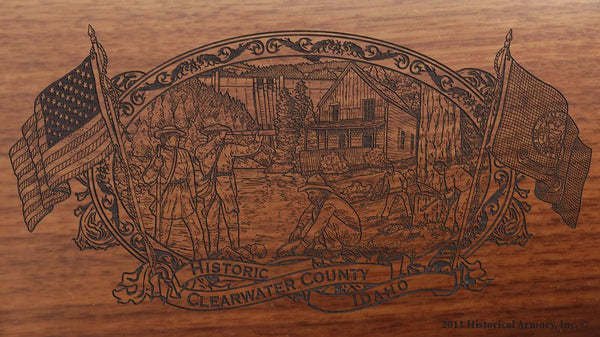 Clearwater county idaho engraved rifle buttstock