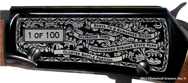 Columbia county florida engraved rifle H001 Receiver