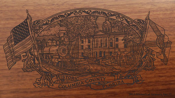 Columbia county florida engraved rifle buttstock