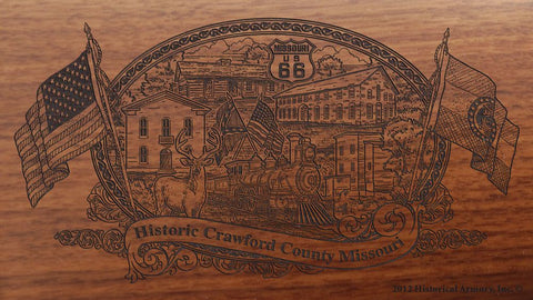 Crawford county missouri engraved rifle buttstock