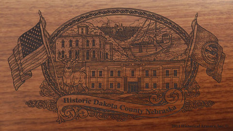 Dakota county nebraska engraved rifle buttstock